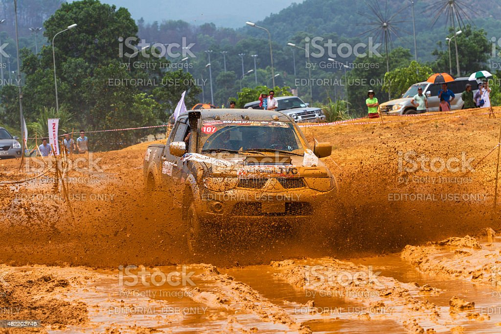 Mitsubishi Triton pick-up car stock photo