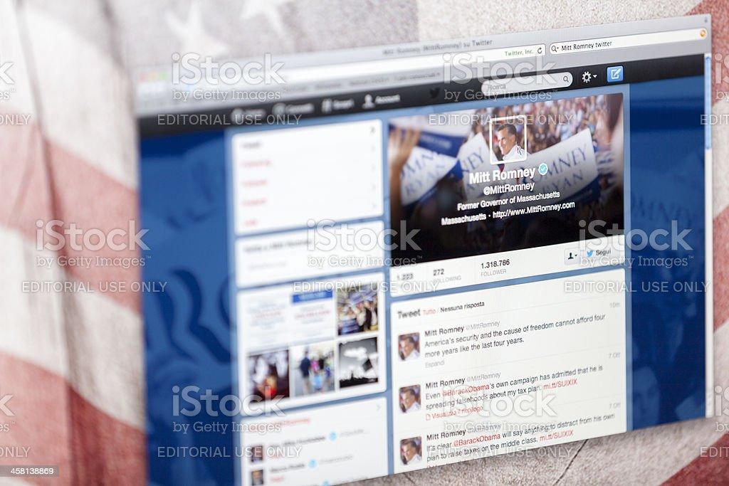 Mitt Romney Twitter Fan Page stock photo