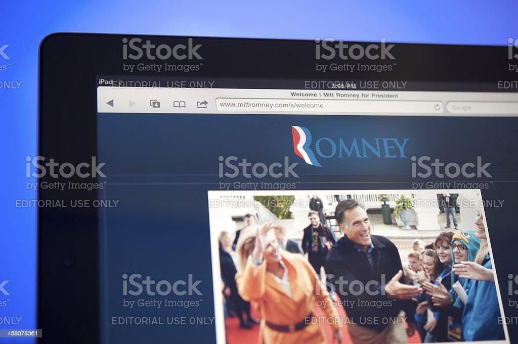 Mitt Romney wensite stock photo