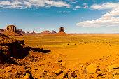 Mitten Buttes in Monument Valley, Arizona USA