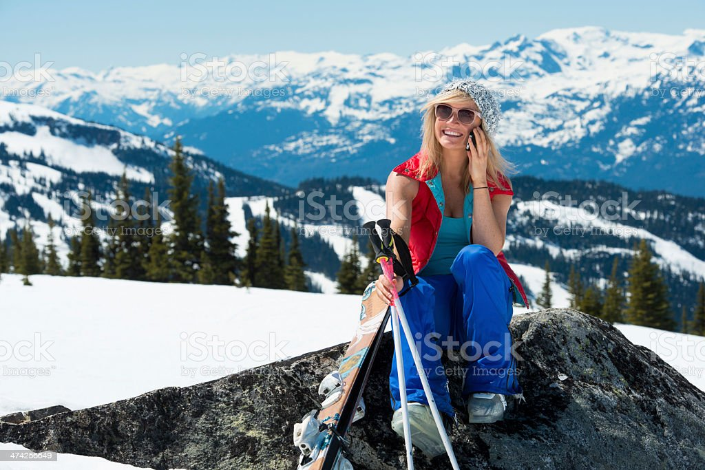 Moutain chat royalty-free stock photo