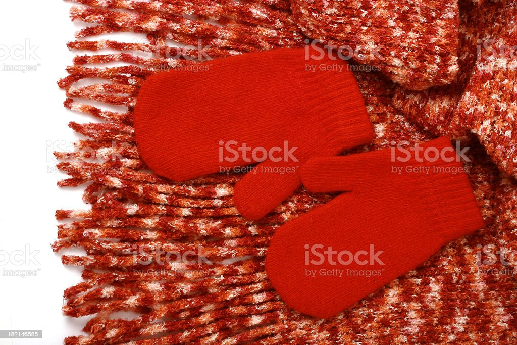 Mittens and scarf royalty-free stock photo