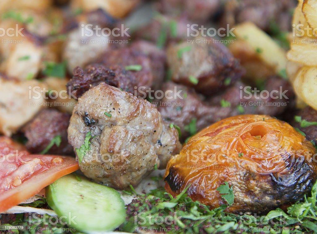 mix arabic kebabs royalty-free stock photo