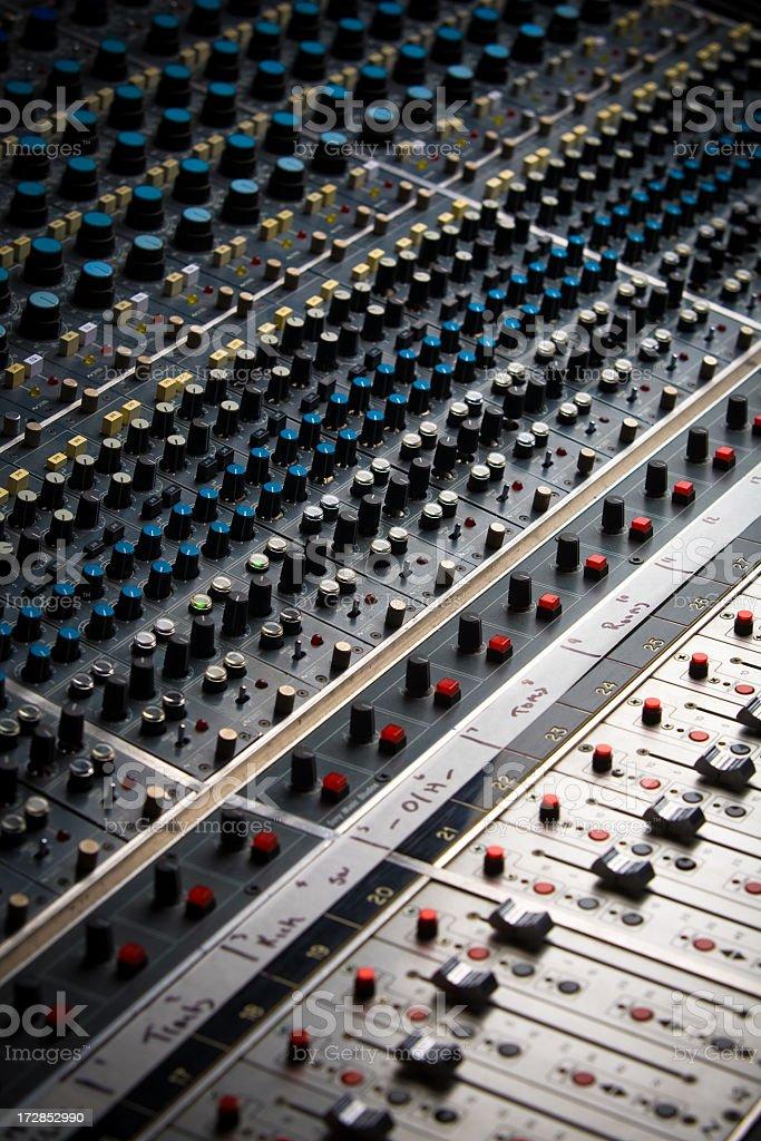 Mix Board At Recording Studio stock photo