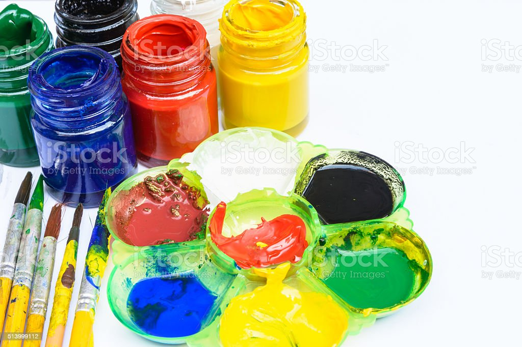 Mix color on tray stock photo
