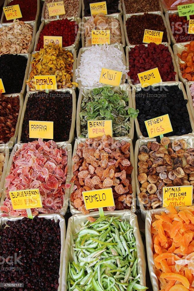 Mix Dried Fruits at Grand Bazaar stock photo