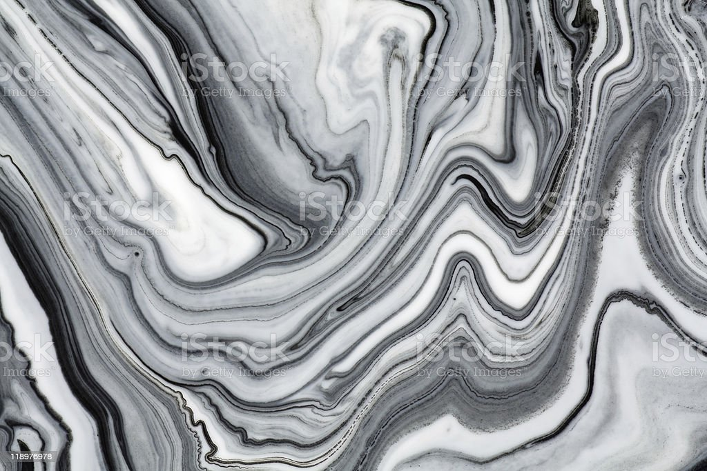 Mix of a white and black paint stock photo