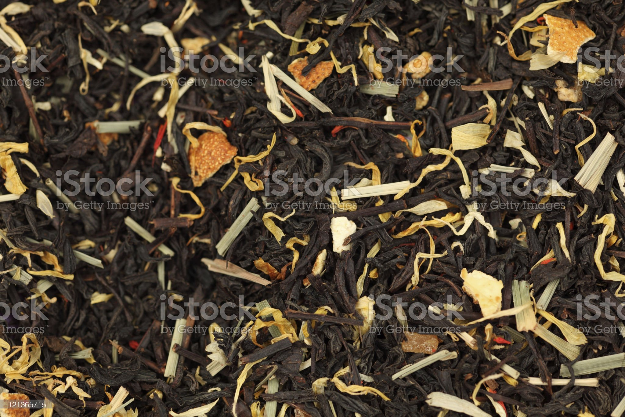 Mix of black tea and herb. royalty-free stock photo