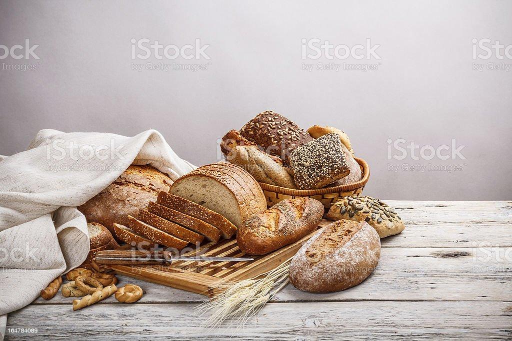 Mix of bread stock photo