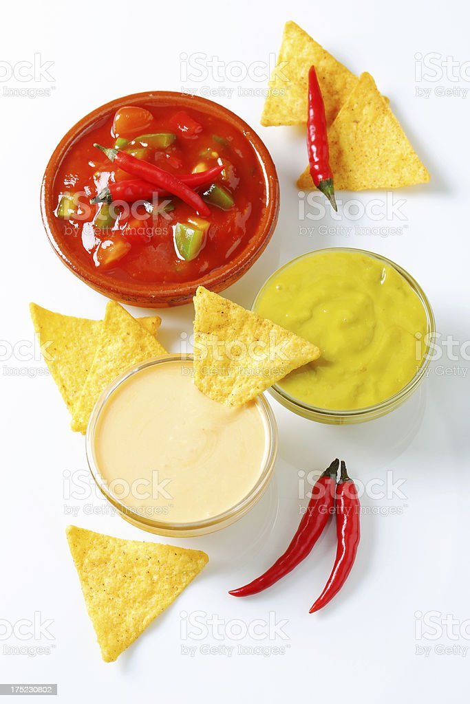 Mix of dips royalty-free stock photo