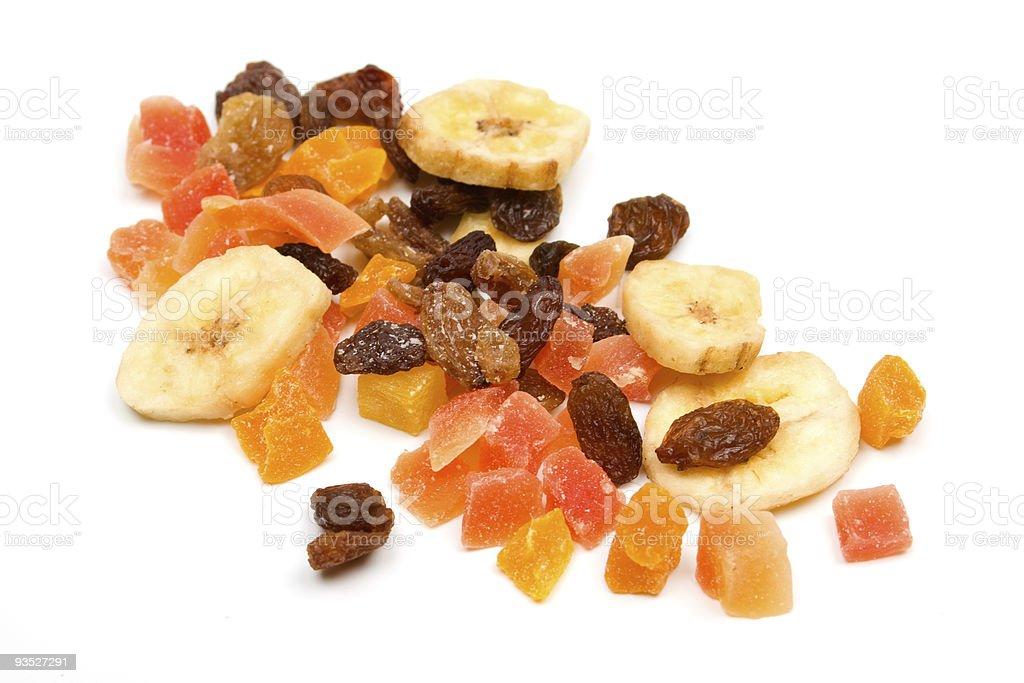 Mix of dried fruit stock photo