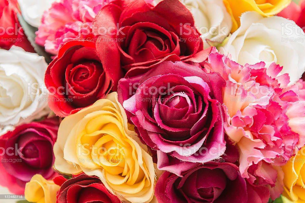 mix of flowers close up royalty-free stock photo