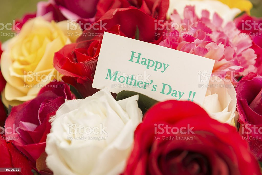 mix of flowers for Mother's day royalty-free stock photo
