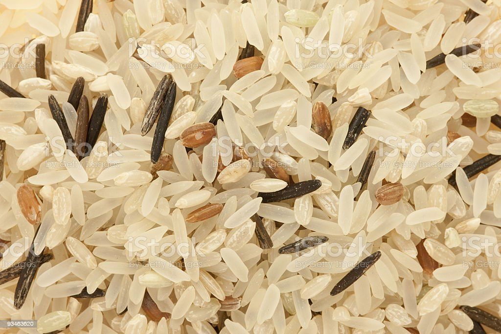 Mix of four rice. royalty-free stock photo