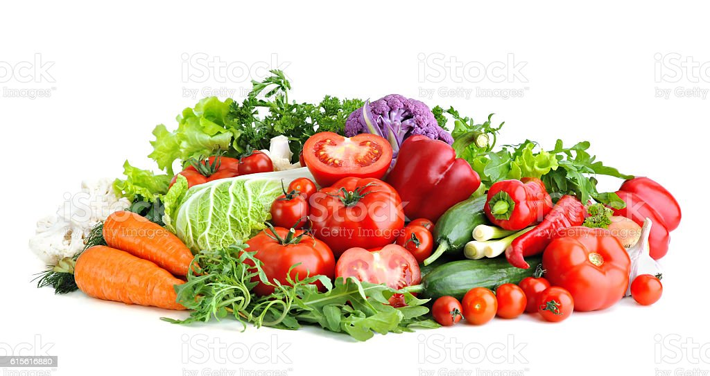Mix of fresh vegetables.Concept of healthy eating. stock photo