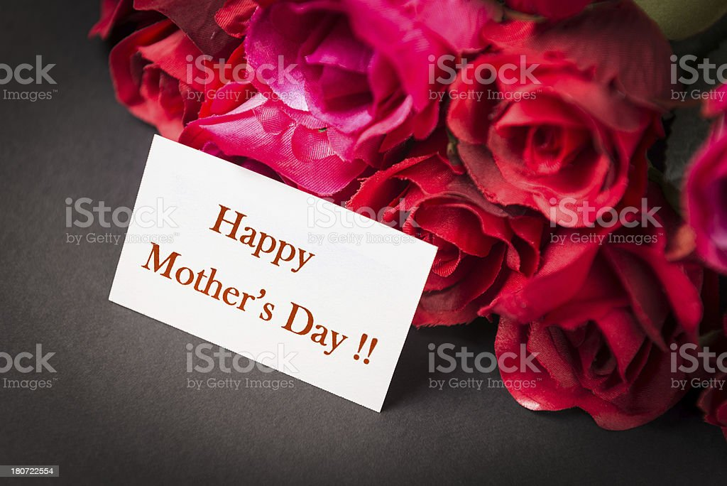 mix of roses for Mother's day stock photo