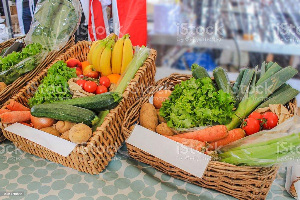 Mix organic vegetables stock photo