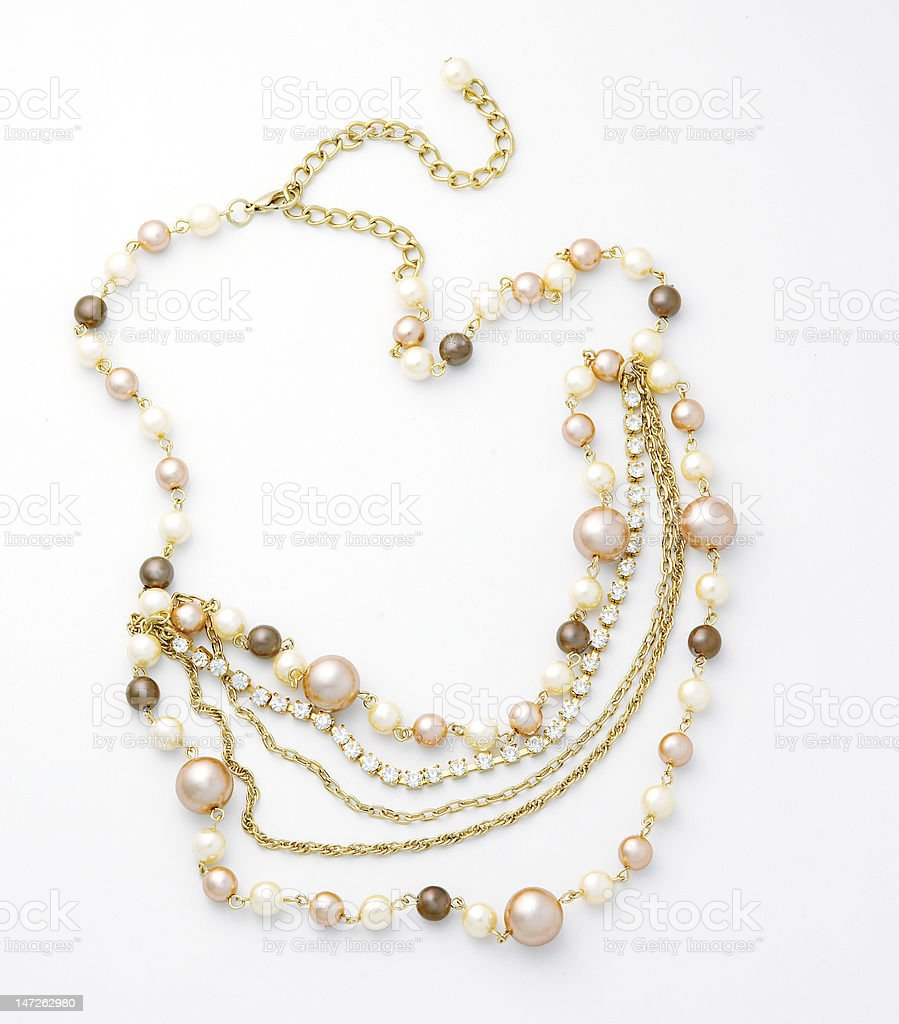 mix pearl necklace royalty-free stock photo