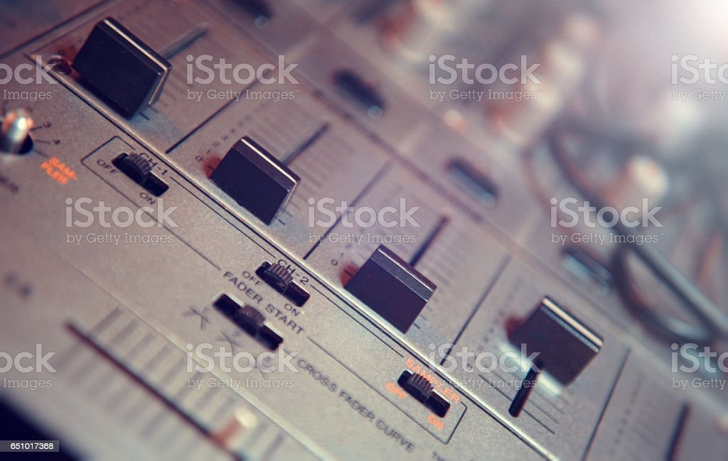 Mix pult stock photo