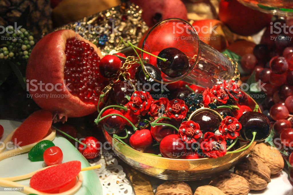 Mix red fruits stock photo