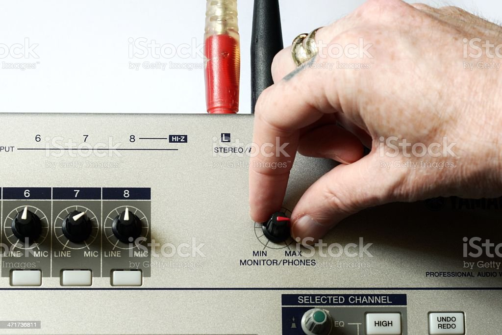 Mix the music royalty-free stock photo