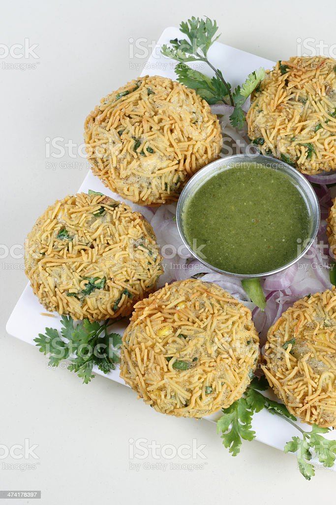 Mix Vegetable Pakora is a popular Indian snack royalty-free stock photo