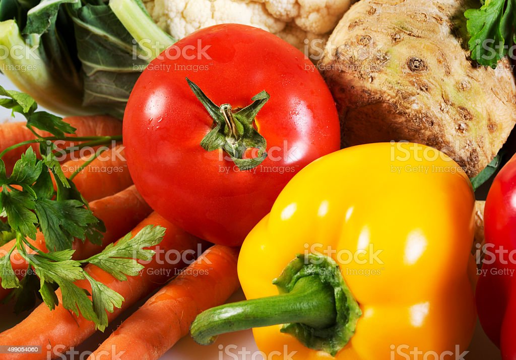 Mix vegetables background stock photo