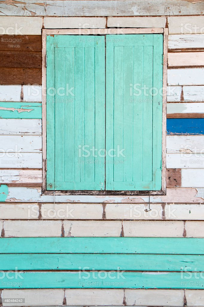 Mix wooden wall stock photo