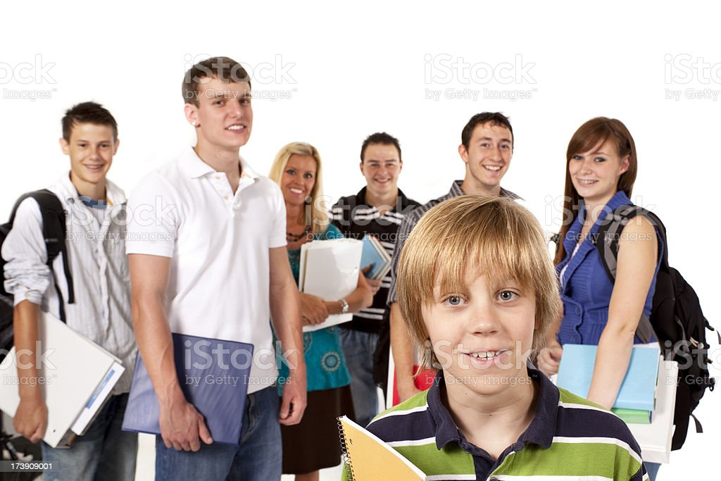 Mixed ages of students elementary middle high school college royalty-free stock photo