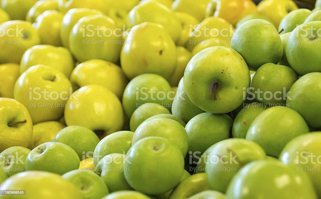 Mixed apple background. royalty-free stock photo