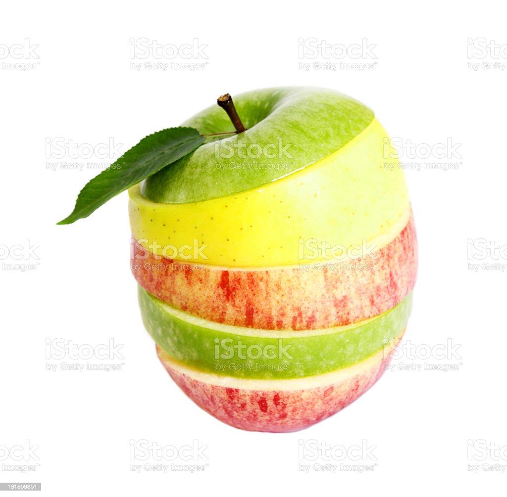 Mixed apple royalty-free stock photo