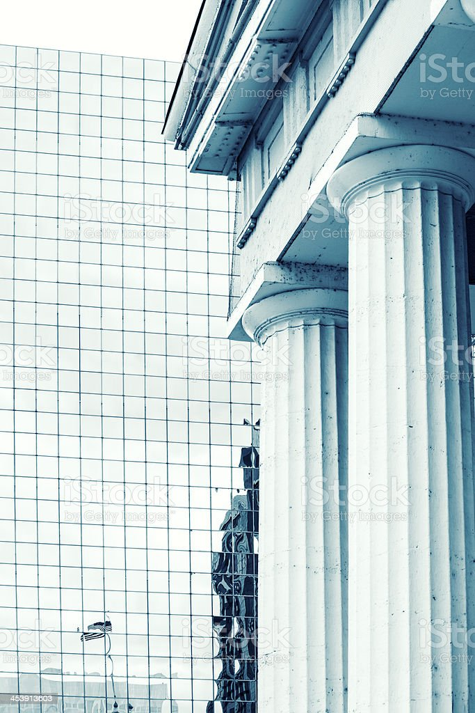 Mixed architecture stock photo
