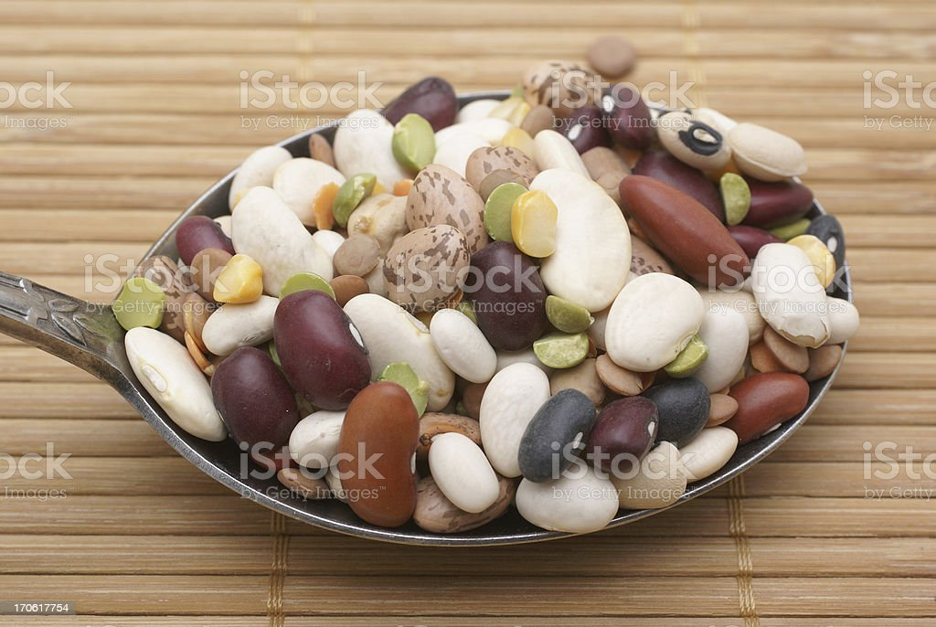 mixed bean soup ingredients royalty-free stock photo
