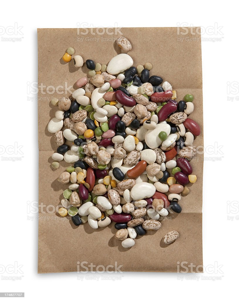 mixed beans royalty-free stock photo