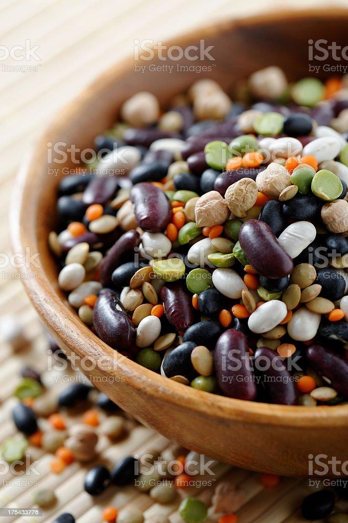 Mixed beans stock photo
