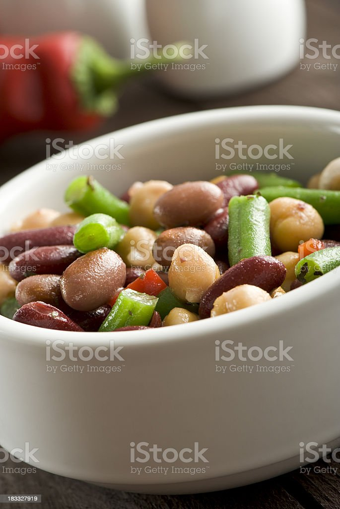 Mixed beans salad royalty-free stock photo