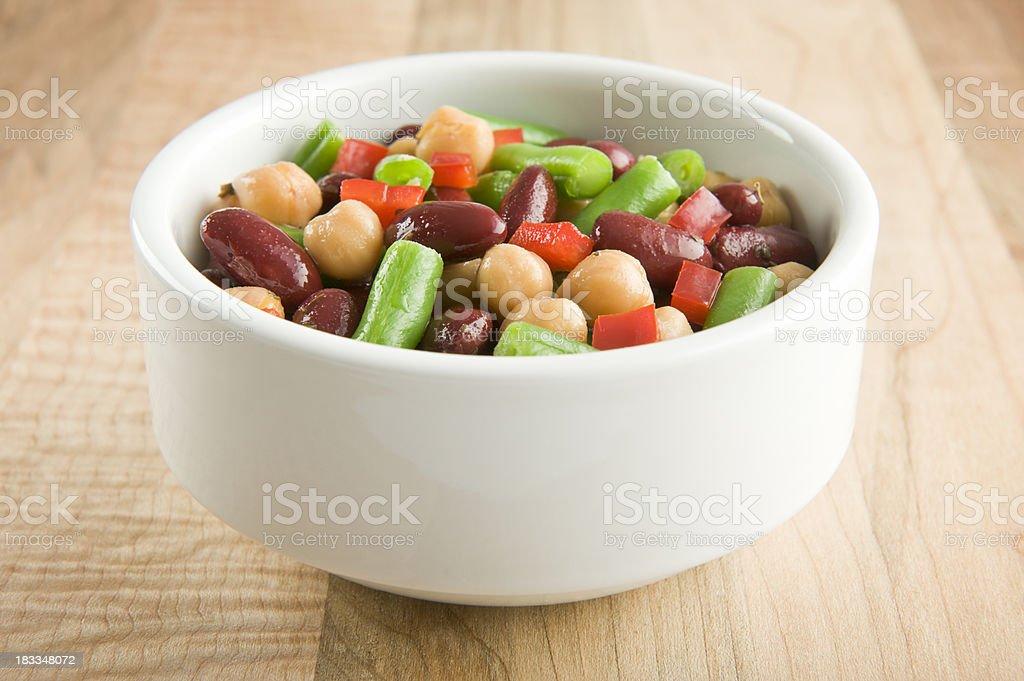 Mixed beans salad stock photo