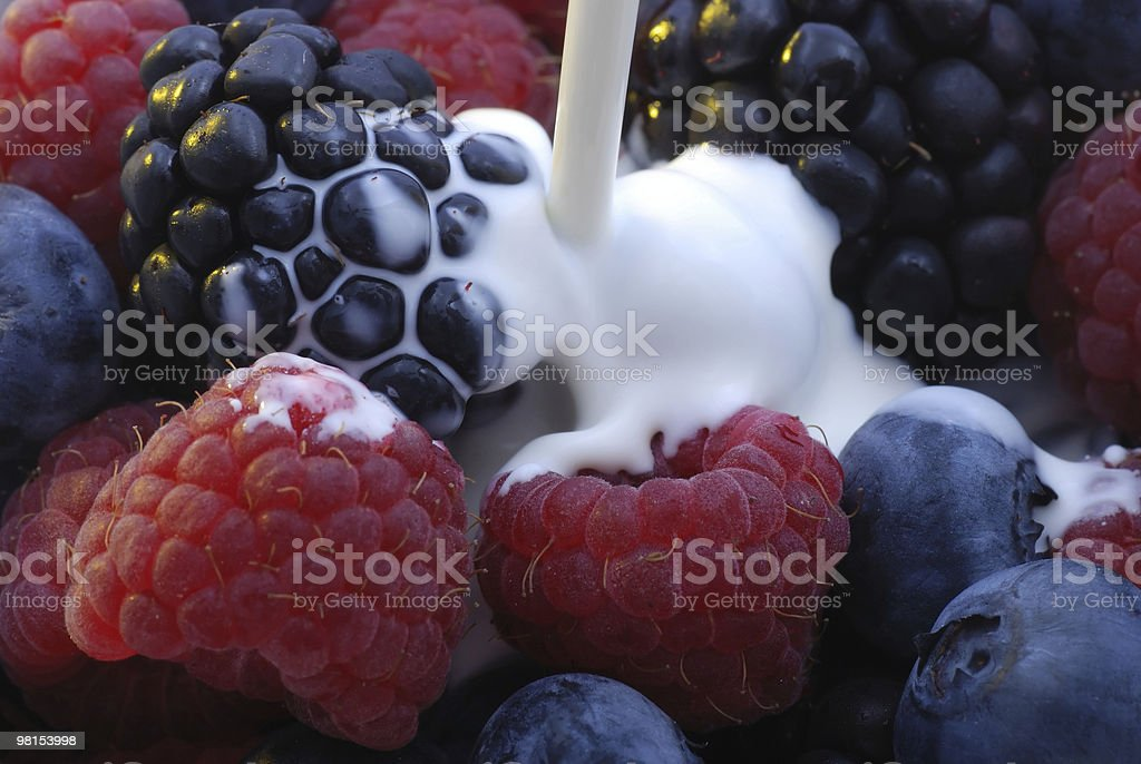Mixed Berries and Cream royalty-free stock photo