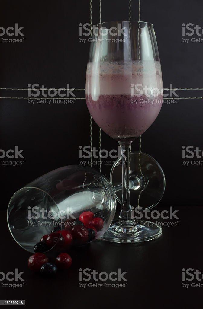 Mixed Berries and Yoghurt Shake stock photo