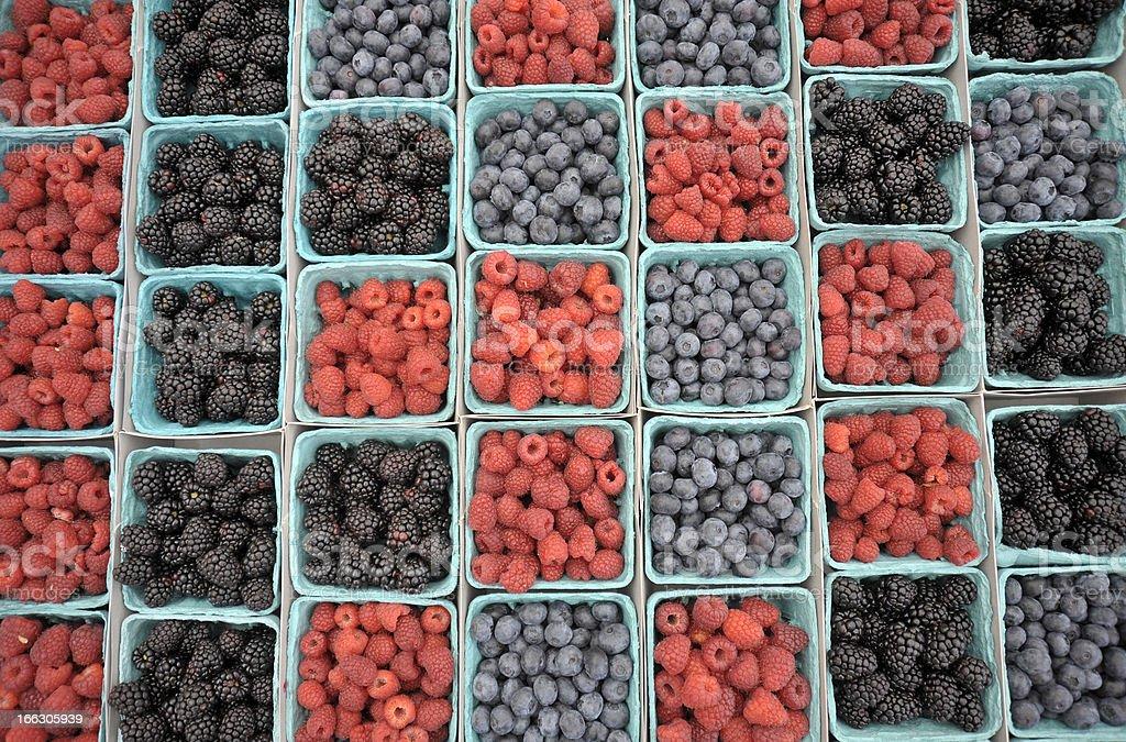 Mixed Berries at Farmers Market royalty-free stock photo