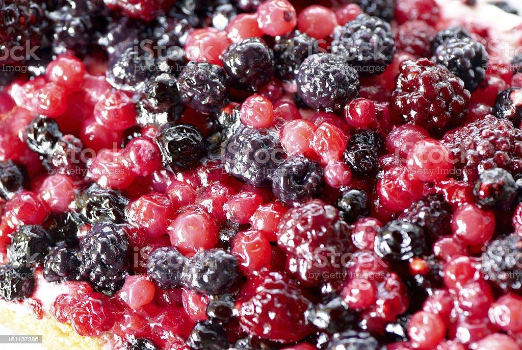 Mixed berries close up stock photo