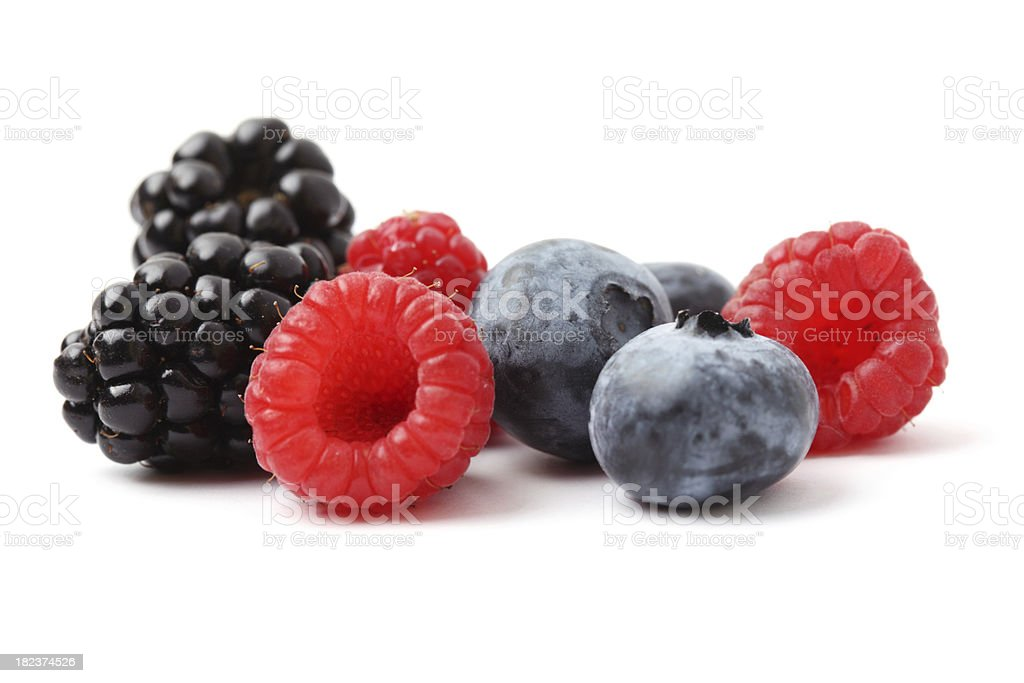 Mixed berries royalty-free stock photo