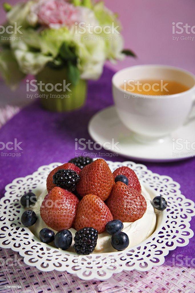 Mixed berry cake royalty-free stock photo