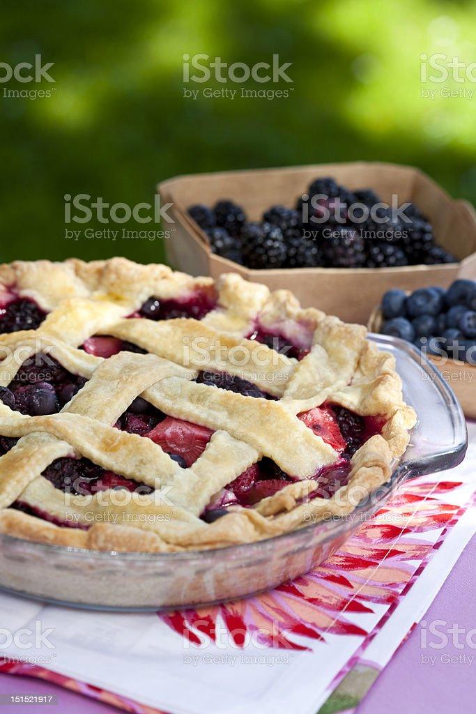 Mixed Berry Pie royalty-free stock photo