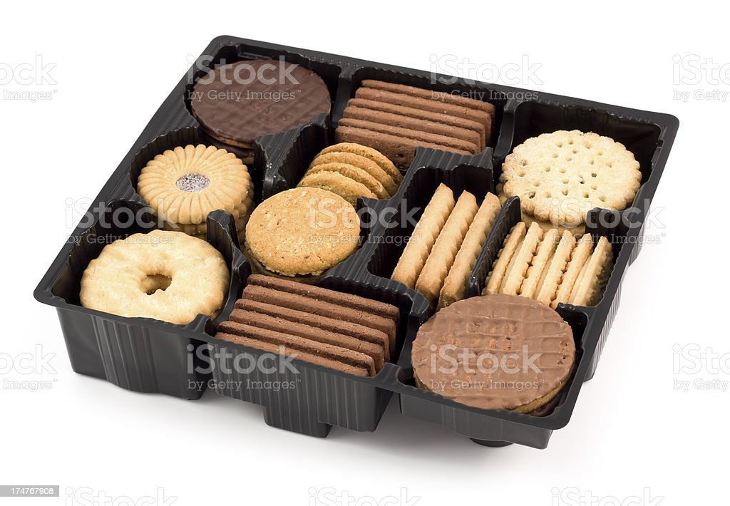 mixed biscuit tray royalty-free stock photo