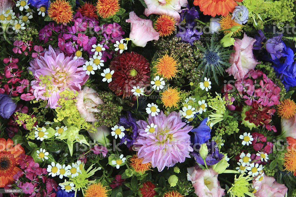 Mixed bouquet in bright colors stock photo