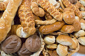 Mixed breads and rolls