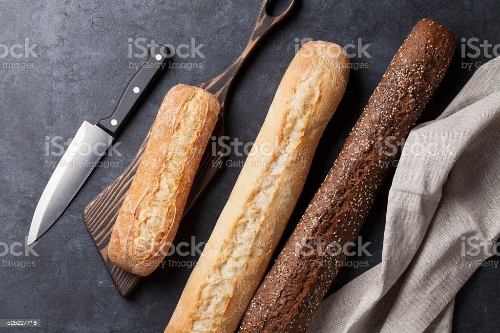 Mixed breads stock photo