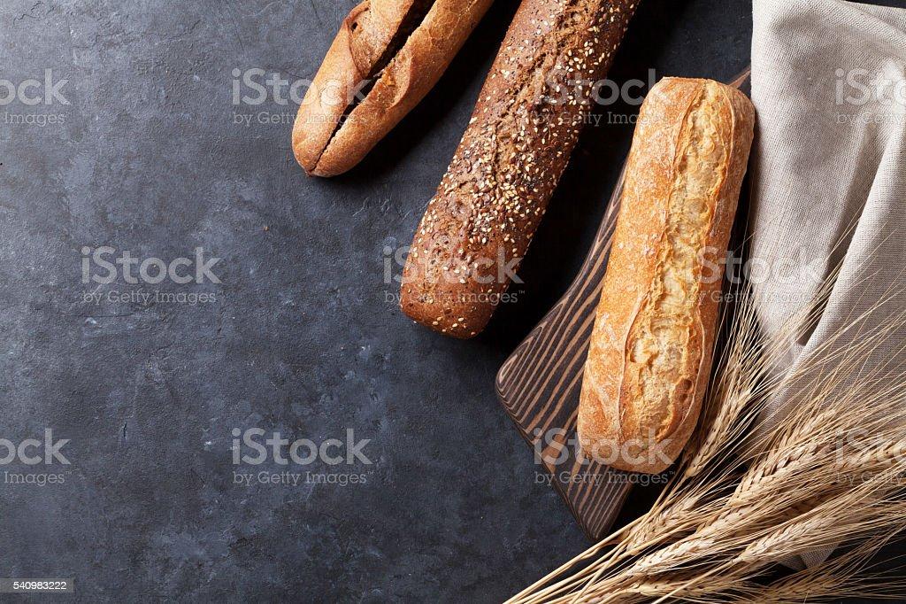 Mixed breads stock photo