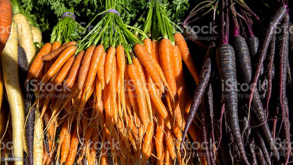 Mixed Carrots stock photo